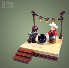 Mind if We Dance? (burningblocks) Tags: cowboy lego stage western cowgirl vignette diorama moc