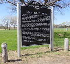 Dead Horse Creek Marker (Loup City, Nebraska) (courthouselover) Tags: nebraska ne sandhills greatplains shermancounty loupcity nebraskahistoricalmarkers polishcommunitiesintheunitedstates