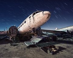 Hollowed Out (dejavue.us) Tags: longexposure nightphotography airplane nikon desert tucson fullmoon nikkor boneyard d800 vle 180350mmf3545