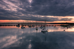 Moody Sunset (Sunset Snapper) Tags: uk sunset clouds reflections boats grey still nikon moody haylingisland hampshire calm filter lee nd april yachts grad southcoast 2016 2470mm langstoneharbour d810 moodysunset sunsetsnapper
