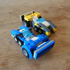 DSCN6296 (alfa145q_lego) Tags: robot lego mecha rebuild alternate 31034 31033 31032 legocreator vehicletransporter redcreatures futureflyers
