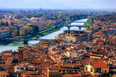 Florence in sunlight (Arutemu) Tags: city italy panorama canon florence italian europe italia cityscape view eu ciudad palace it panoramic tuscany vista firenze fullframe toscana tamron ville  6d palazzovecchio           eos6d  canon6d