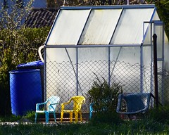 (:Linda:) Tags: germany chair village thuringia container greenhouse veilsdorf