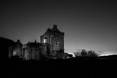 Donan (stephen cosh) Tags: blackandwhite castle architecture mediumformat landscape scotland unitedkingdom gb eileandonan dornie stephencosh leicastyp006 45mmelmarits leicascotland