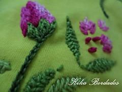 KikaBordados Kika  Krauss 089 (Kika Bordados by Angelica Krauss) Tags: pink flowers flores handmade embroidery laranja crochet tshirt amarelo bordados manualidades croche embroider feitomo camisetabordada camisetabordadamo bordadosfeitomo kikabordadoskikakrauss