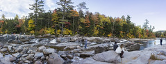 DC3288  DSC07264NX5Na Swift River 2 © 2016 Paul Light (Paul Light) Tags: autumn trees people panorama men nature water landscape outside outdoors women rocks newhampshire whitemountains panoramic albany recreation whitemountainnationalforest kancamagushighway kancamagusscenicbyway swiftriver lowerfallsscenicarea reallyrightstuffpanokit