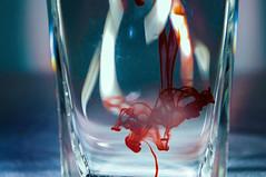 Fluid III (John Bense) Tags: red water flow blood shine cloudy fluid dye liquid