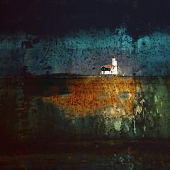 Het Paard van Marken bij nacht en ontij (Ger Veuger) Tags: blue orange lighthouse abstract black green collage landscape groen blauw digitalart digiart zwart vuurtoren marken oranje landschap noordholland dutchlandscape markermeer abstractlandscape hetpaardvanmarken noordhollandslandschap abstractdigitalcollage abstractlandschap abstractdigitallandscape abstractedigitalecollage abstractdigitaallandschap theisleofmarken