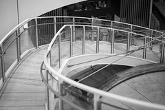 i want a wider lens... (Roger Foo) Tags: blackandwhite stairs singapore leicamptyp240 summiluxm50mm14asph capitolpiazza