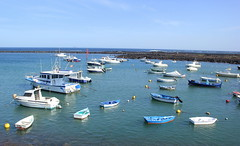 Orzola Harbour (Graham`s pics) Tags: ocean travel sea holiday tourism water boats boat town seaside spain waterfront view harbour lanzarote shore fishingboat canaryislands township municipality northatlanticocean atlantococean