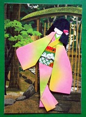 ATC1308 - At the entrance to a garden (tengds) Tags: pink red brown tree green atc artisttradingcard garden asian japanese geisha kimono obi origamipaper papercraft japanesepaper washi ningyo artistcard handmadecard chiyogami asiandoll yuzenwashi japanesepaperdoll gardenentrance nailsticker origamidoll kimonodoll nailartsticker tengds
