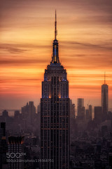 Icon (magnifyk) Tags: new york city nyc sunset usa building cityscape state symbol icon empire nueva icono 500px