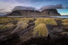 Vestrahorn Dunes (shaunyoung365) Tags: sunset mountain mountains beach clouds landscape iceland sony vestrahorn a7rii