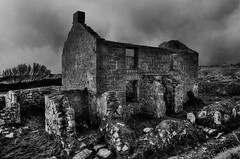Just needs carpets (diminji (Chris)) Tags: houses blackandwhite bw abandoned monochrome buildings outdoors ruins decay rugged penzance castlegate castleandinas