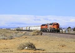 BNSF 1708 @ Boron, CA (Michael Polk) Tags: california santa ca burlington train desert railway local fe northern freight bnsf boron swoosh borax warbonnet