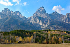 Home at the Foot of the Mountains (Robert F. Carter Travels) Tags: autumn fall landscape landscapes nationalpark tetons nationalparks grandteton grandtetonnationalpark