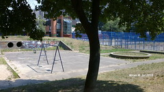 The basketball court and Small park with Kindergarden in block 23 Residence, New Belgrade, Belgrade, Serbia, July 2015; Koarkaki teren, parki i deji vrti u bloku 23 stambeno naselje, Novi Beograd, Beograd, Srbija, jul 2015, godine. (Milan Milan Milan) Tags: park new july block 23 belgrade jul mali residence beograd novi blok 2015 blok23  igraliste    parki igralite decje block23 naselje  stambeno decije deje deije 23