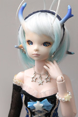 Dollzone Moon hybrid (Damasquerade) Tags: pink moon star skin body head ns alien bjd normal resin hybrid dollzone withdoll