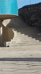 Stairs of Light and Shadow (rocknrolltheke) Tags: blue light shadow color luz portugal colors architecture stairs licht colorful outdoor stairway treppe porto architektur blau schatten lux farbig lightandshadow oporto stufen lumen luminosity lichtundschatten 30365