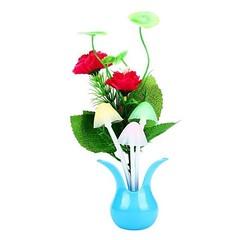 โคมไฟLEDรูปเห็ดดอกไม้แจกันฟ้ามีเซ็นเซอร์เสียบปลั๊กเปลี่ยนสีอัตโนมั-ติแต่งคอนโดห้องนอนนั่งเล่น พร้อมส่งLED3 ราคา550บาท โทรสั่งของกับ พี่โน๊ต/พี่เจี๊ยบ : 083-1797221 และ 086-3320788 LINE User ID : @lotusnoss และ lotusnoss.com  โคมไฟ LED รูปเห็ดและดอกไม้แจกั
