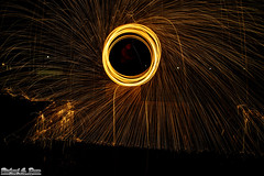 First steel / wire wool spin of 2016 (Rick Drew - 16 million views!) Tags: hot wool night dark circle spiral evening wire melting steel orb spinning heat sparks