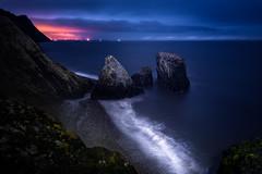 (Marc Roberts photography) Tags: sea mountains rock night coast rocks coastline peninsula gwynedd llyn trefor