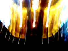 Hidden musical devil on fire (Arthur Bouteiller) Tags: light shadow people urban music abstract blur color colour art colors amsterdam dark fire perception concert movement experimental colours graphic emotion live dream shapes style down human psycho orchestra sound devil forms dreamy form feeling fuego noise damaged shape symphony psyche upside humans feu flou hypnotic musique confuse destroy vibration vibe hypo orchester kinesthetic