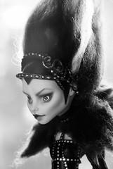 Ooak Ghoulia (wishingflowerdolls) Tags: witch ooak queen custom mh repaint ghoulia monsterhigh