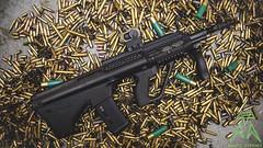 Microtech Aug (Ryan S Burkett | RSB Photography) Tags: america lens prime still nikon gun dof flash rifle sharp weapon guns product ammo 35 brass strobe d800 223 reddot gunslingers 556 aimpoint sb910 gunsdaily leadslingers