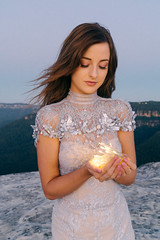 Your inner light (elliftheartist) Tags: portrait mountains nature beauty sunrise landscape outdoors model glow fashionphotography surreal naturallight dreamy fairylights couture fineartphotography surrealphotography conceptualphotography designerdress fashioncouture elliftheartist