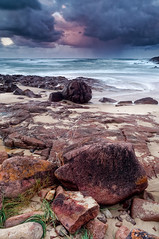 Winter Storm on The Beach (Lost Dingo) Tags: seascape australia nsw fishermansbay boatharbour