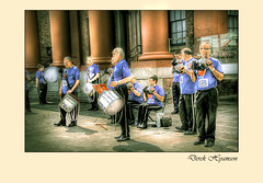CONCERTINA BAND. (Derek Hyamson) Tags: liverpool candid band hdr concertina