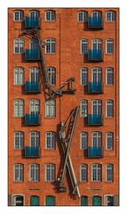 cranes - the color version (kurtwolf303) Tags: city windows detail building topf25 architecture facade germany deutschland topf50 topf75 europe 500v20f fenster hamburg eu cranes stadt topf150 topf100 800views omd fassade digitalphotography krne 2000views 900views 1500v60f 1000v40f hansestadthamburg 250v10f lovelycity systemcamera unlimitedphotos micro43 microfourthirds olympusem5