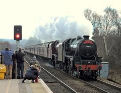 The Tin Bath railtour (mike_j's photos) Tags: people station nikon jubilee steam railtour swinton tinbath class5 black5 44871 45699 wcrc p530 47760