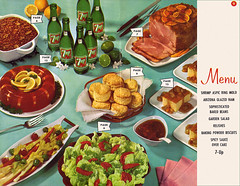 7-Up Goes to a Party - 1961 - Page 8-9 (shannonlepak) Tags: party vintage recipe cookbook cola pop retro soda 1960s recipes 7up 1961