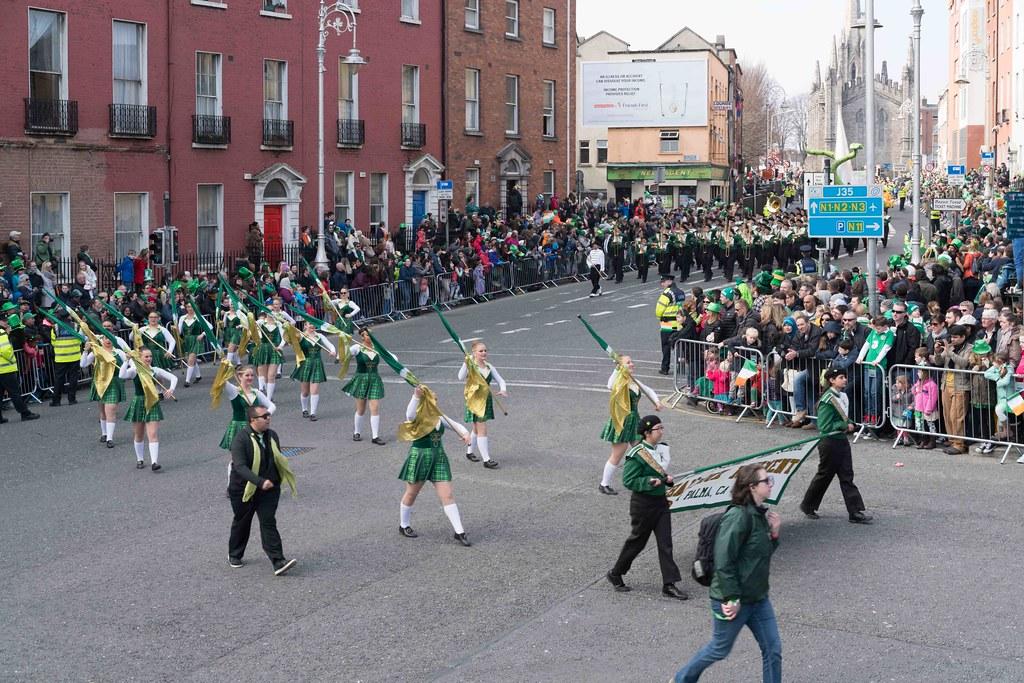 John F. Kennedy High School (Shamrock Regiment), California [St. Patrick's Parade 2016]-112642