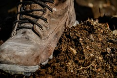 week 8- 52 in 20165- boots (oakiedoakie) Tags: h 52 2016 week 9 boots dirt work mud muddyboots
