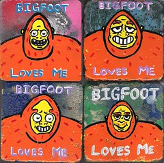 Bigfeet Love You (Andy Finkle Art) Tags: love series bigfoot sasquatch cryptozoology cryptid finkle