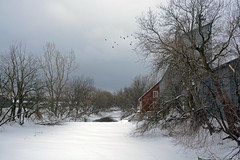 The Blue Mill (emerge13) Tags: winter snow hiver mills winterlight mpdquebec saariysqualitypictures aumoulinbleu