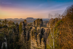 Basteibrcke (lichtbild_total) Tags: mountain sunrise germany landscape switzerland sandstone hills berge sonnenaufgang sandstein saxon bastei osterzgebirge basteibrcke ef1635 eos5dmkii