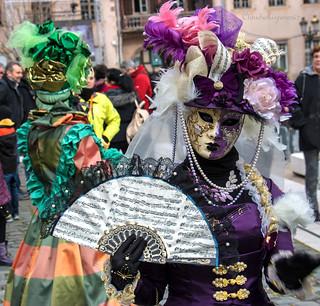 White and Indigo Music-loving Fan - Carnival of Venice 2016