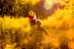 Golden sunshine.... (Marla Nutbrown) Tags: family sun love grass children warmth fields