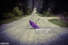 Purple Plaid Umbrella -Getty Images #523901448 (Little Hand Images) Tags: road nature grass umbrella outside plaid brolly gravelroad upsidedownumbrella purpleplaid
