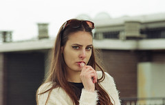(Erica Pozza) Tags: city urban woman film rooftop 35mm model pellicola