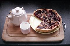 film (La fille renne) Tags: food film home cake analog 35mm pie tea teapot fujifilm expired canonae1program expiredfilm 50mmf18 fujisuperia200 lafillerenne