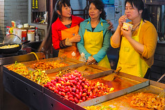 Savoring the food (Brian John Godfrey) Tags: china food chinesefood streetphotography wuhan foodstalls streetvenders