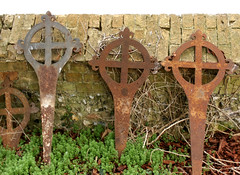 Newton, St Margaret (beery) Tags: england church cemetery graveyard metal cross churchyard cambridgeshire newton stmargaret gravemarker