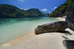Talisay Beach Rocks (engrjpleo) Tags: travel sea seascape beach water rock landscape coast seaside sand outdoor philippines shore elnido palawan waterscape tapiutanisland talisaybeach