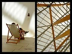 Pictures at an exhibition - Fondation Louis Vuitton - Paris (philippebeenne) Tags: paris exhibition muse exposition toit vuitton bois louisvuitton chaiselongue fondation concoursphotos