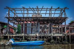 (ny_iam) Tags: street travel people river thailand boat town asia market bangkok east shanty nyiam